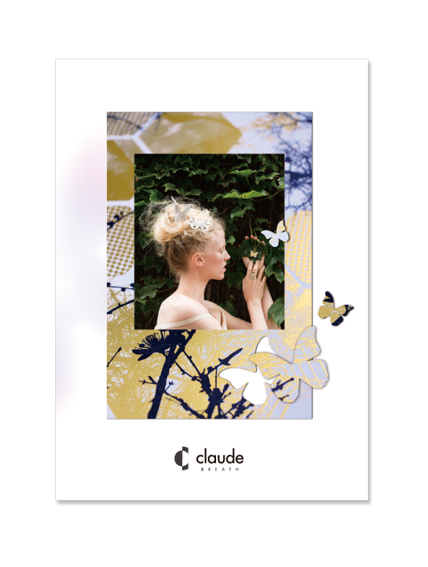 Graphic design for CLAUDE catalog